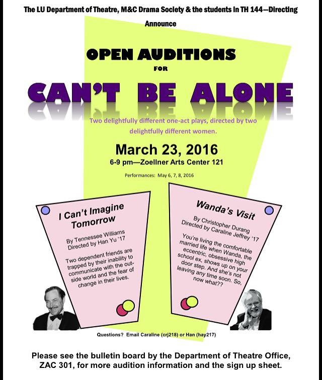 """Can't Be Alone"" Opens Tonight!"